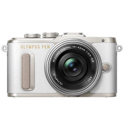 Olympus PEN E-PL8 Set + 14-42mm EZ, silber/weiß