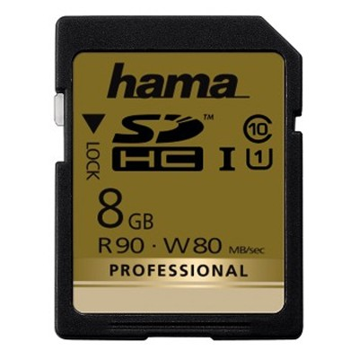 Hama Professional Line UHS-1 SD 8GB