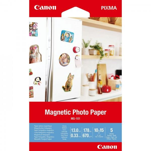 Canon MG-101 Magnetic Photo Paper 10x15cm 5 Blatt