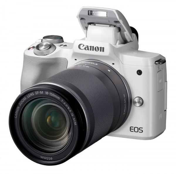 Canon EOS M50 Set + EF-M 18-150mm, weiß