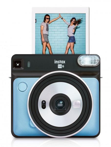 Fuji Instax SQUARE SQ6, Aqua Blue Sofortbildkamera