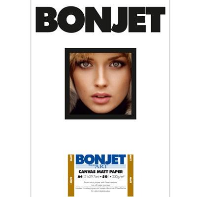 BONJET PhotoArt, CANVAS MATT DIN A4, 50Bl., 230g