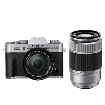 Fuji X-T20 Set+XC15-45 + XC50-230 II silber/schw