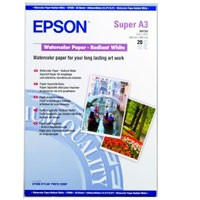 Epson Watercolor Radiant White 190g, 20 Bl., A3+