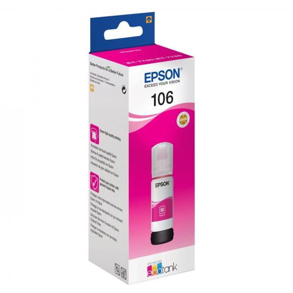 EPSON Tinte 106 EcoTank magenta, 70ml Flasche