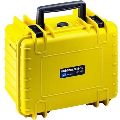 B&W Outdoor Koffer Typ 2000 m. Schaumstoff gelb