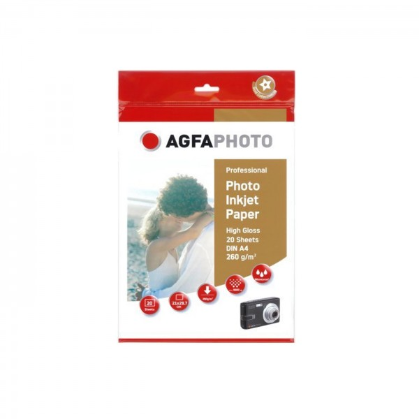 Agfa Photo High Gloss 260g., 20Bl. DIN A4