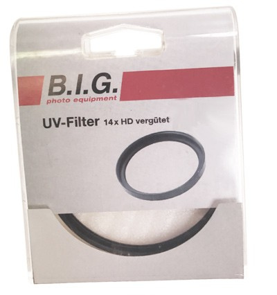 B.I.G. UV-Filter dünn 14x HD-vergütet, 62mm