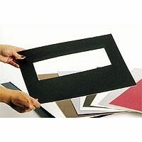 Premium Passepartoutkarton 40x50cm, schwarz