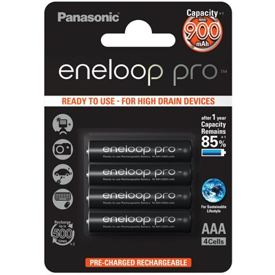 Panasonic eneloop Pro Micro AAA 900 mAh, 4 Stück