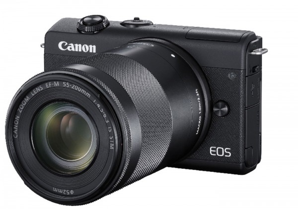Canon EOS M200 Set + EF-M 15-45 + 55-200, schwarz