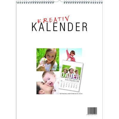Kalender z. selbstgestalten m.Dauer-Kalendarium A4