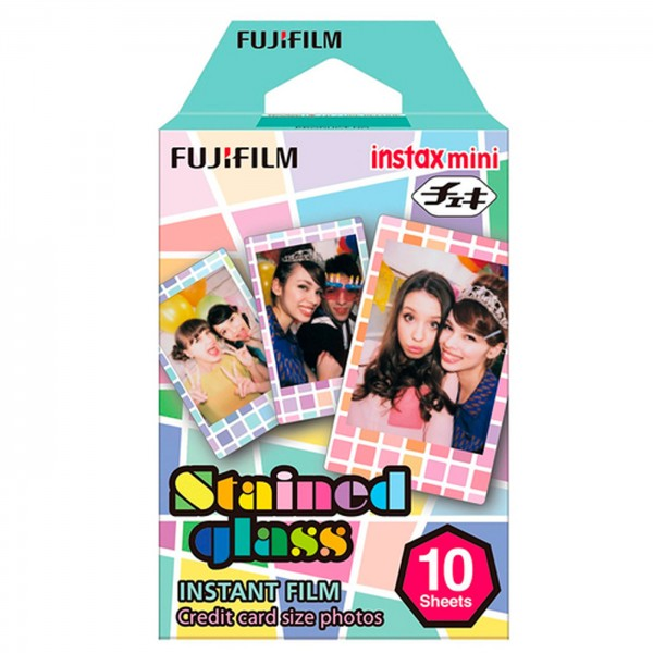 Fuji Instax Mini Sofortbildfilm Stained Glass 10er