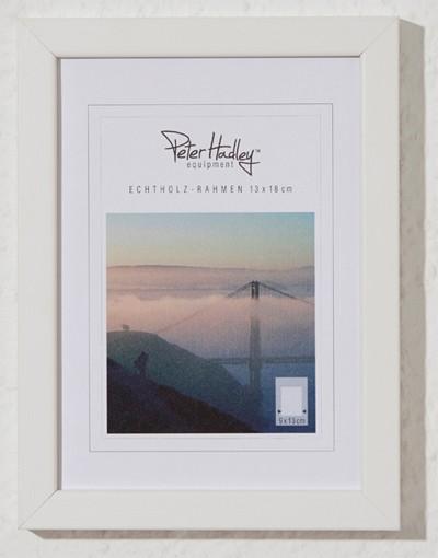 "Peter Hadley ""Amalfi"" Holzrahmen 13x18cm, weiß"