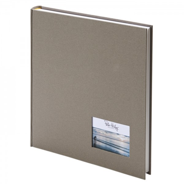 Peter Hadley Buchalbum 25x25cm, taupe