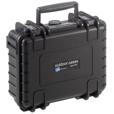 B&W Outdoor Koffer Typ 500 m. Schaumstoff schwarz