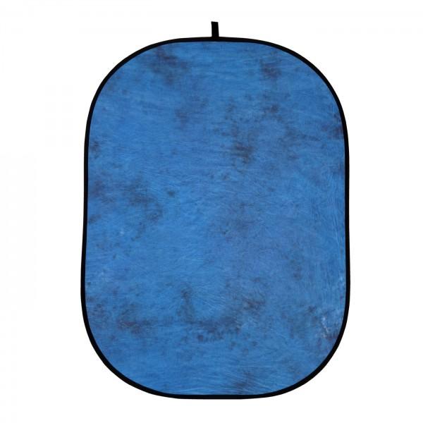 HELIOS Falthintergrund 150x200cm jeansblau/d.braun