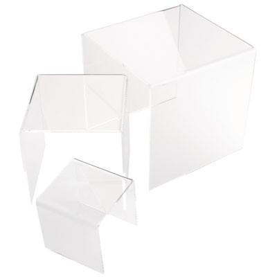 HELIOS Acryl Deko-Brücken glasklar, 3er Set