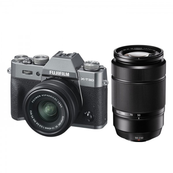Fuji X-T30 Set+XC15-45mm+XC50-230mm II, anthrazit