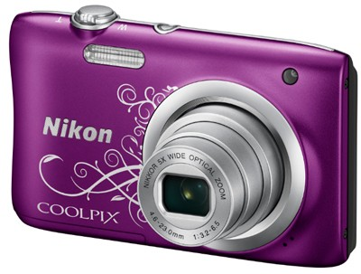 Nikon Coolpix A100, violett-Ornament