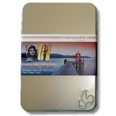 Hahnemühle Photo Cards Photo Rag 308g, 30Bl.,10x15