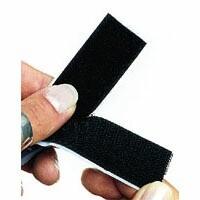 Flauschband schwarz 25mm/ pro Meter