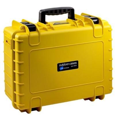 B&W Outdoor Koffer Typ 5000 m. Schaumstoff gelb