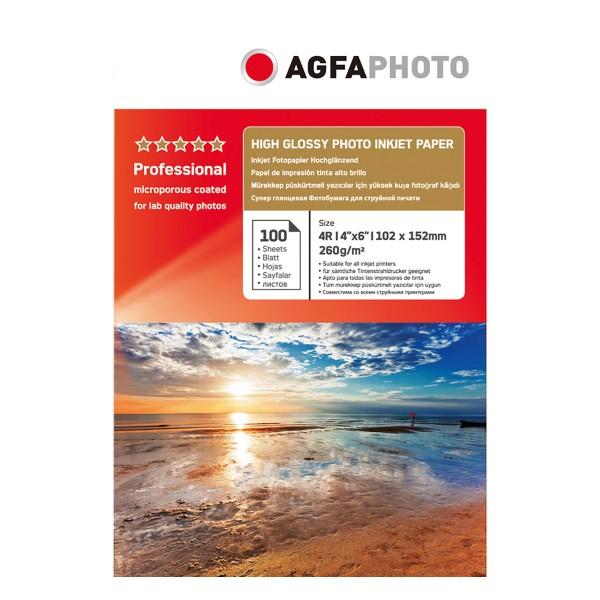 Agfa Photo High Gloss 260g., 100Bl. 10x15cm