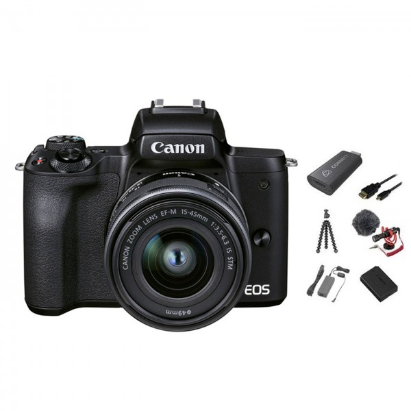 Canon EOS M50 II Live Stream Kit +15-45 IS STM