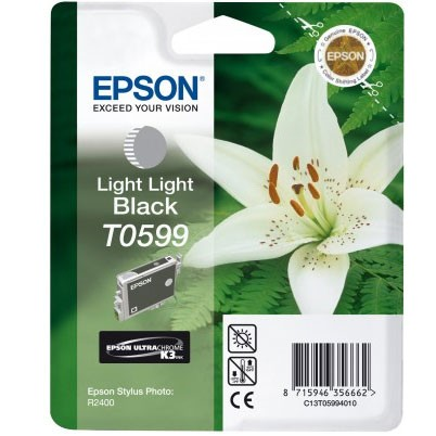 Epson Tinte (T0599) light-light schwarz f. R2400