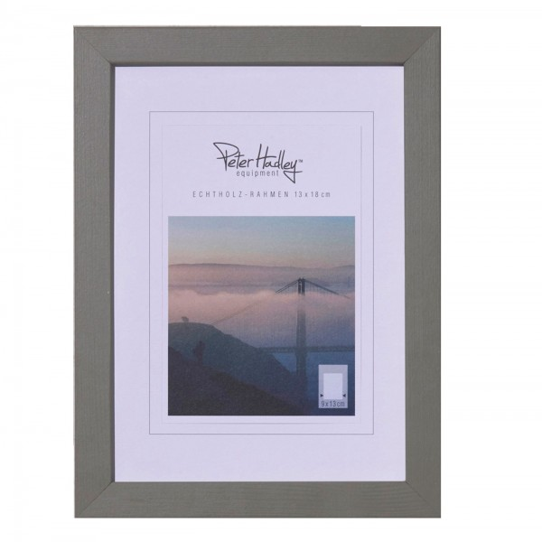 "Peter Hadley ""Amalfi"" Holzrahmen 13x18cm, grau"