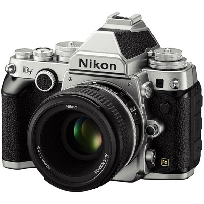 Nikon Df, silber Set+ AF-S NIKKOR 1,8/50 mm G SE