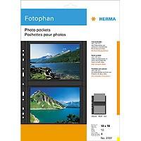 Herma Foto-Ablageblätter schwarz 10 Bl. für 13x18