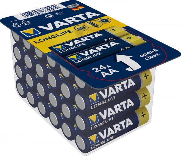 Varta Longlife Batterie Mignon AA/LR6 24-er Pack