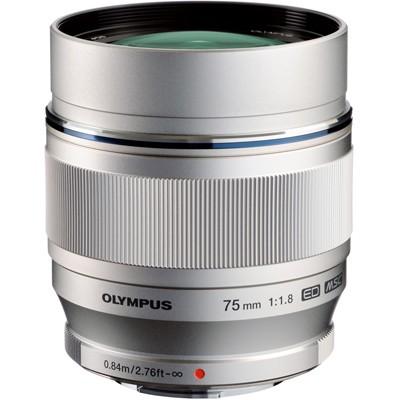 Olympus M.Zuiko Digital ED 1,8/75mm, silber