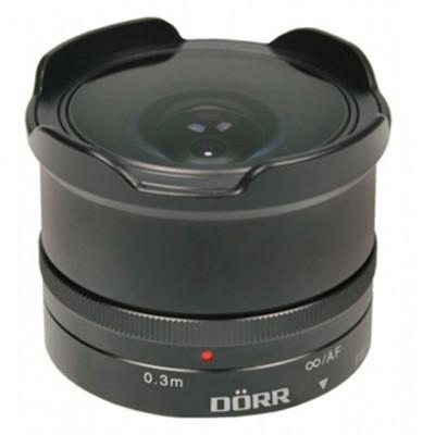 Dörr Fisheye Objektiv 8,0/9,3mm für MFT