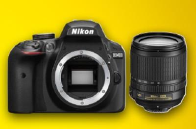 Nikon D3400 Set + AF-S 18-105mm VR, schwarz