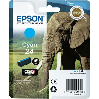 Epson Tinte (T2422) Cyan 24 Claria Photo HD