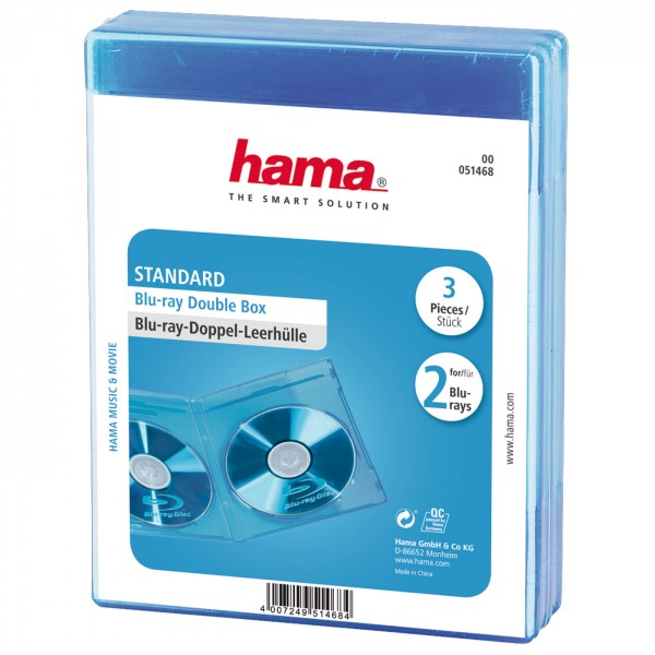 Hama Leerhüllen für 2 Blu-rays transparent 3erPack