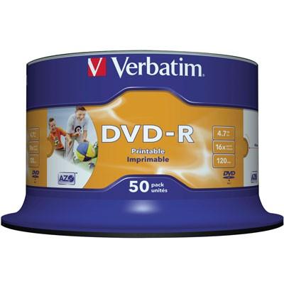 Verbatim DVD-R Inkjet, 4,7 GB, 50er Spindel
