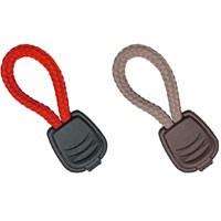 Reißverschluss-Griffe je 3 St. grau und rot