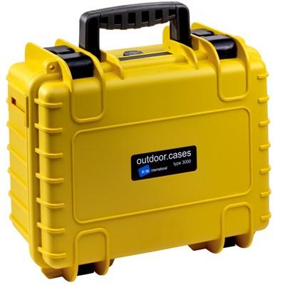 B&W Outdoor Koffer Typ 3000 m. Schaumstoff gelb