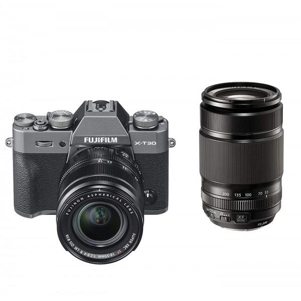 Fuji X-T30 Set +XF 18-55mm+XF 55-200mm, anthrazit