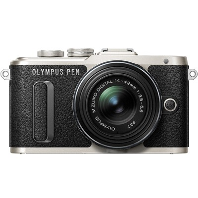 Olympus PEN E-PL8 Set + 14-42mm EZ, silber/schwarz