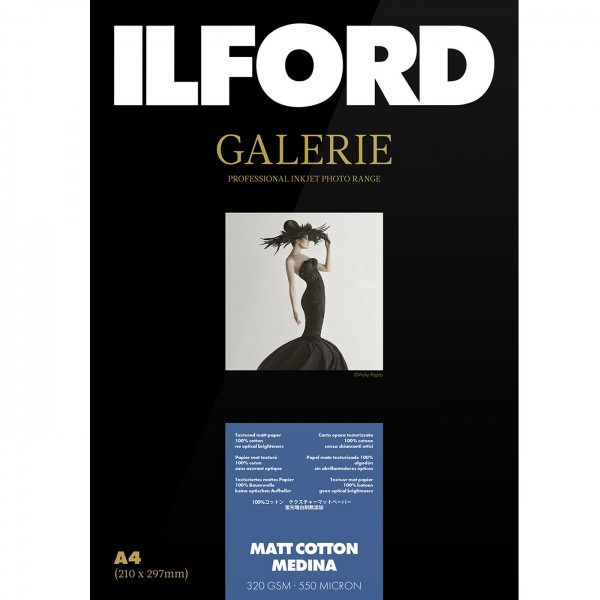 Ilford Galerie Matt Cotton Medina 320g A3 25Bl