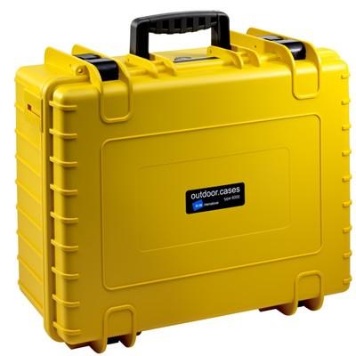 B&W Outdoor Koffer Typ 6000 m. Schaumstoff gelb