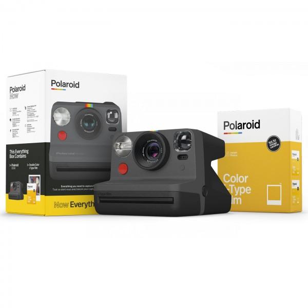 Polaroid Now Black Everything Box + Color-Film