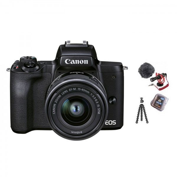 Canon EOS M50 II Vlogger Kit +15-45 IS STM schwarz