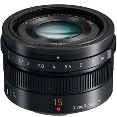 Leica DG Summilux 1,7/15 asph., schwarz für MFT