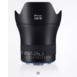 Zeiss Milvus 2,8/18 ZE für Canon